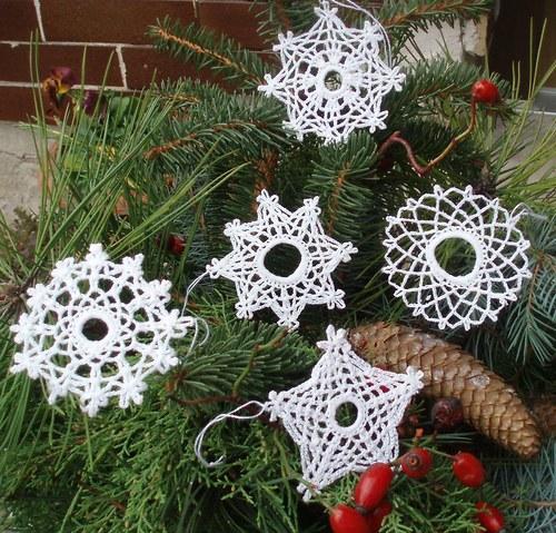 Sada háčkovaných ozdob-Vánoce