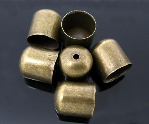 kaplík hladký/ ant.bronz / 10x11mm