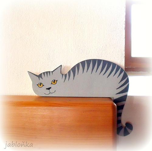 Kočka Šedě Mourovaná