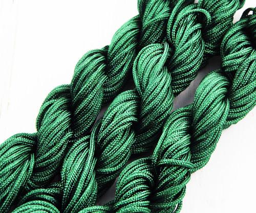 18m 57ft 19yrd Smaragdově Zelené Nylon Kabel Twist