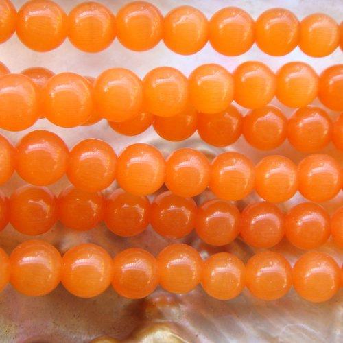 Jadeit 8mm - Oranžový