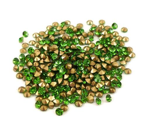broušené šatony zelené SS10 - 2,70mm, 20ks