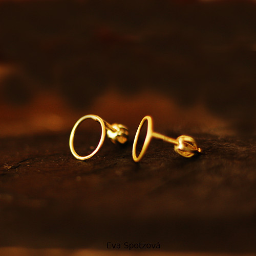GG N°4 náušnice - žluté zlato (Au 585/1000)