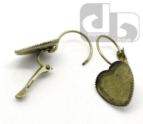 Bronzové visací náušnice s lůžkem na pryskyřici