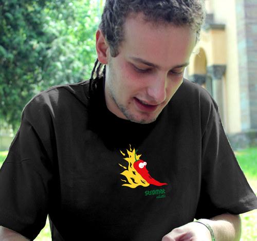 Pánské tričko - OHNIVÁ CHILLI - černá