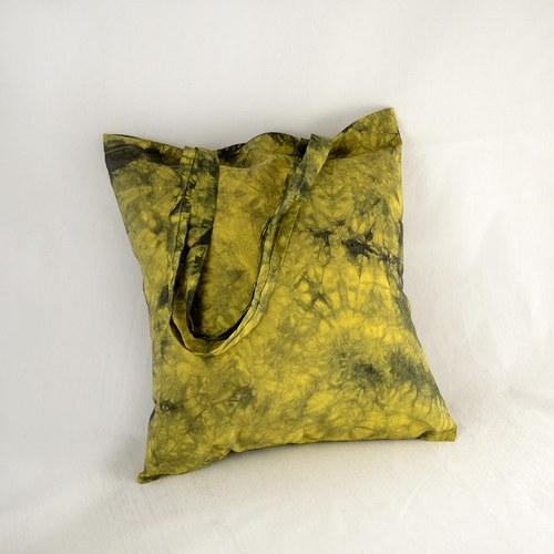 Batikovaná taška žluto-černá