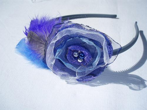 Modro fialová čelenka