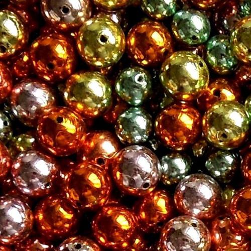 Mix 100 ks, kuličky, perličky vánoční, průměr 1 cm