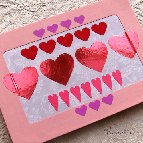 Srdce a srdíčka -  přání