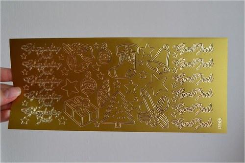 Nálepky (hvězdy, punčocha, nápis) 10x23cm