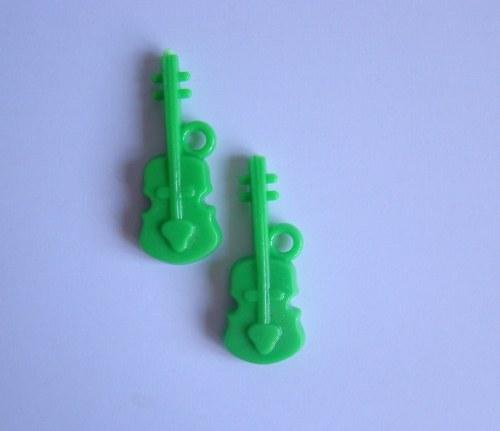 Kytara zelená/ 1 kus