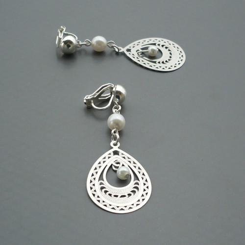 Malé stříbrné kapky - lehoučké klipsy