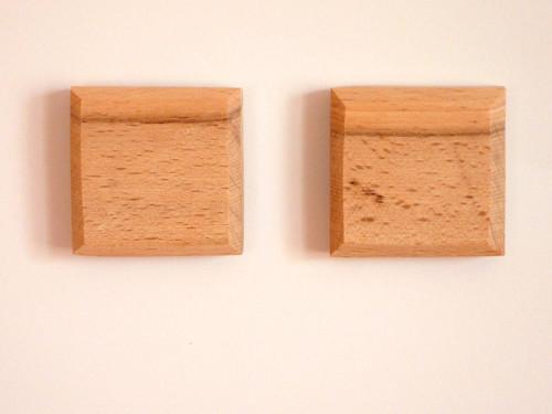 Dřevěná magnetka - čtvercová - buk