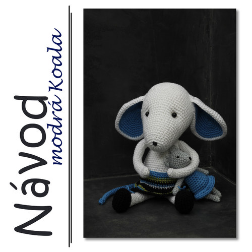 Háčkované myšátko Elinka  - Návod