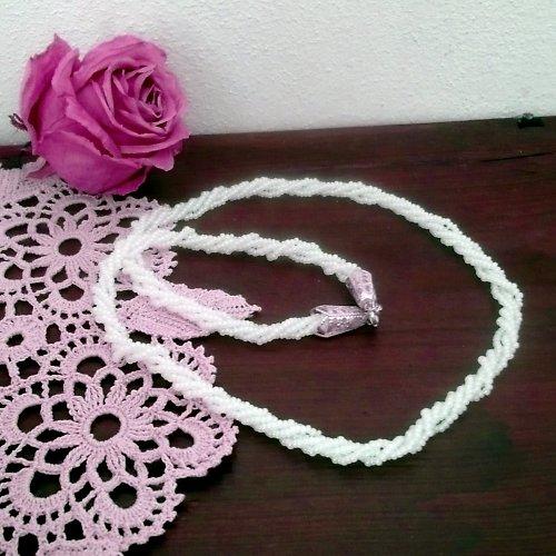 Perleťově bílý náhrdelník - 20% sleva!!!
