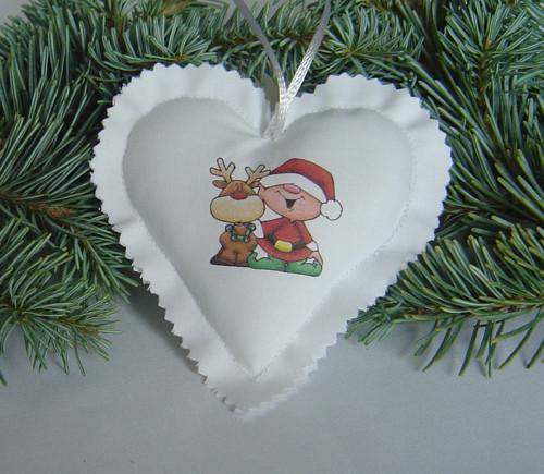 Vánoční srdíčko 24