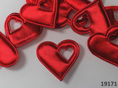 19171-B10 Aplikace srdce v srdci ČERVENÉ, bal.5ks