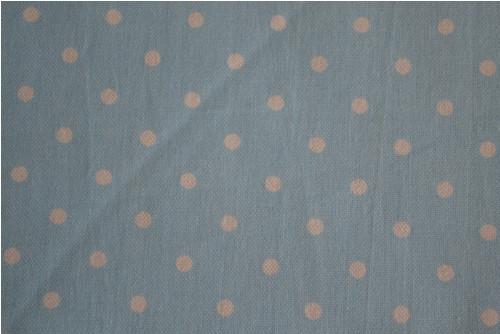 Dekorační látka - bílý puntík na modrém podkladu