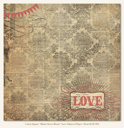 Scrapbooking papír US Home Sweet Home Love
