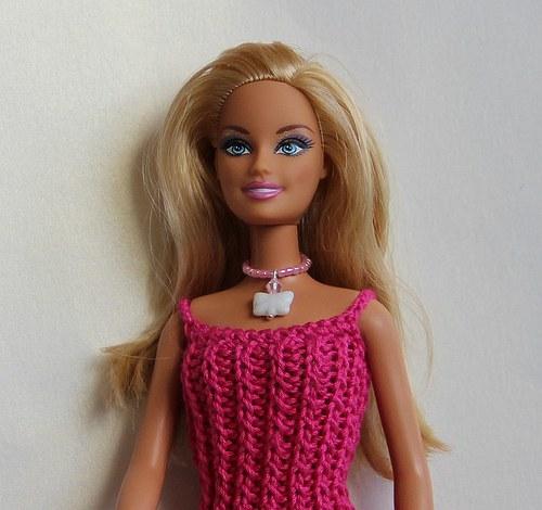 Šperk pro Barbie - bílý motýl