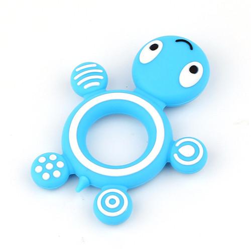 Modrá želvička - silikonové kousátko