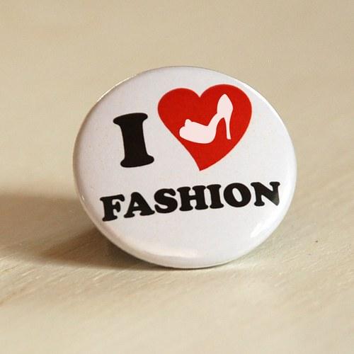 Motiv Miluji módu - placka / zrcátko / magnet