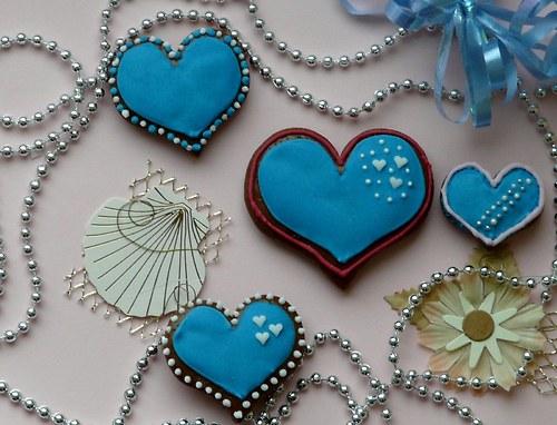 Valentinské srdíčko malé modré