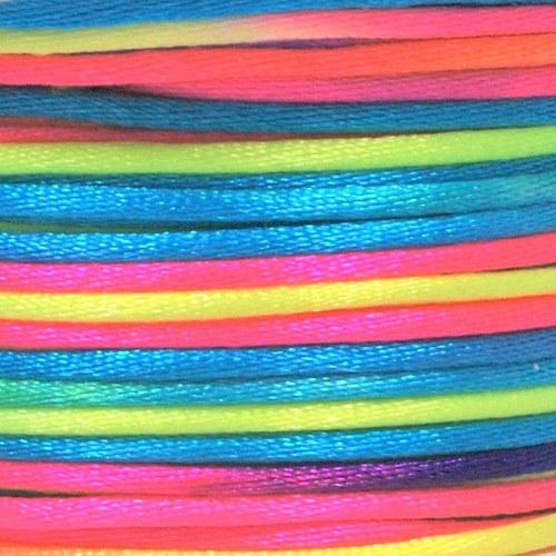 Saténová šňůrka vícebarevná 2 mm / I.