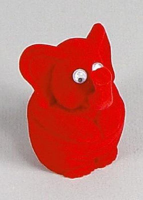 Sametová krabička na šperky - červený slon