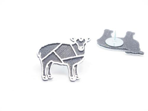 Připínáček ovečka vertigo grey/white