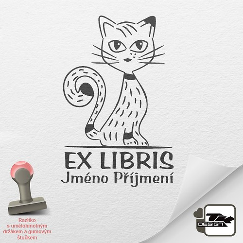 Kočka 2 - 2014005 - 3cm x 4,5cm