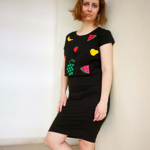Tričko s potlačou Ovocný koktejl (Black)