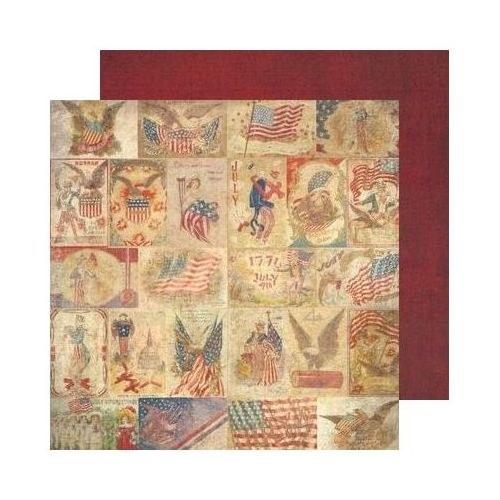 59. Oboustranný papír na scrapbooking 30,5 x 30,5