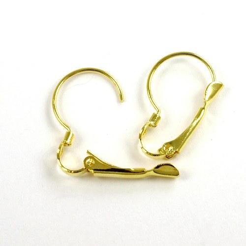 Háčky na náušnice větší zlaté, 5 párů