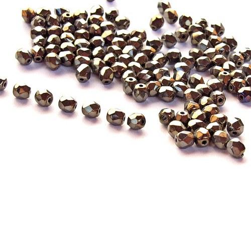 Broušené korálky 4 mm 20 ks