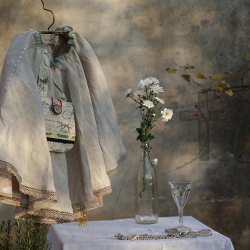 listopadový budoir ...slečinkovská sukně lněná