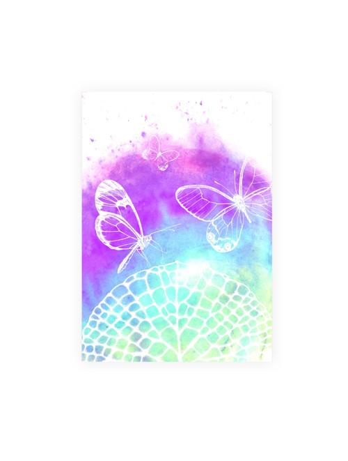 Leknín s motýlky - autorská reprodukce 3velikosti