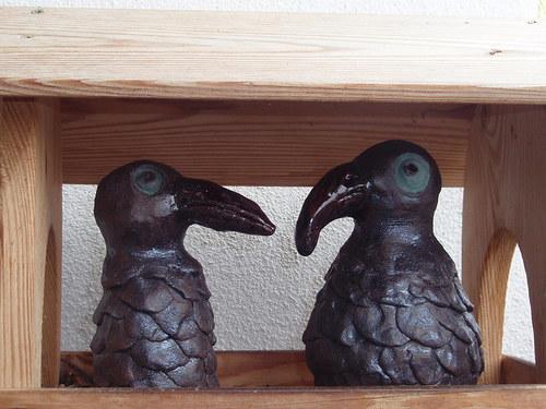 Ptáček zobák - bráškové v krmítku