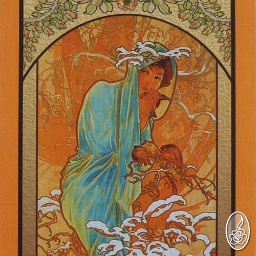Látkový obrázek Alfons Mucha - Zima