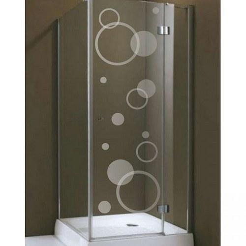 (051g) Nálepka na sprchovací kút - Kvety