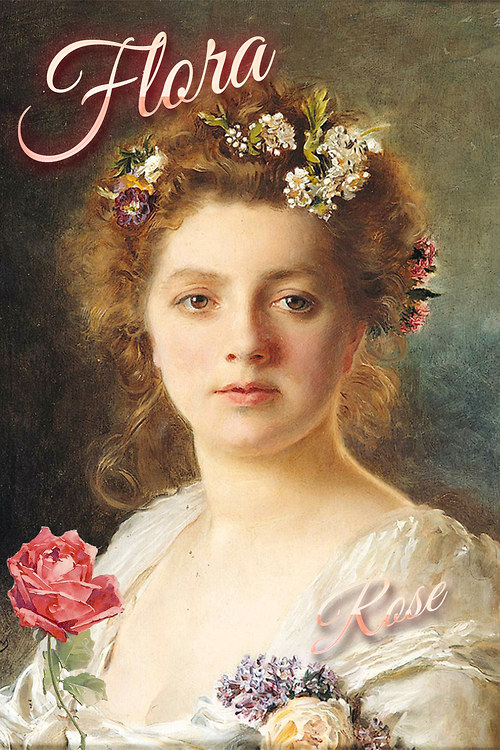 Květinová kráska - vintage motiv