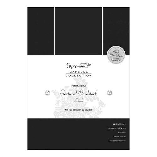 Karton A4 ražba plátna - černý