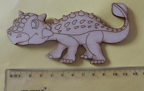 Ankylosaurus - dřevěný výřez