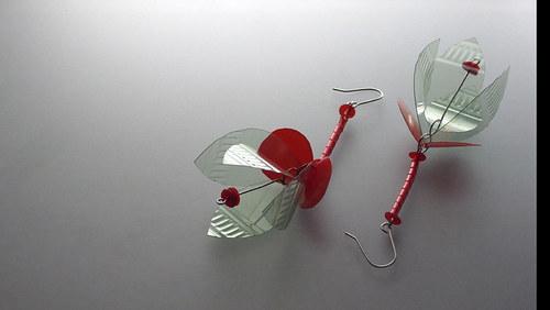 Náušnice Fuchsia-ZelSv-Rud