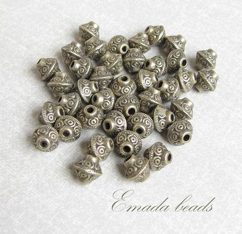 Filigránové korálky, 0,6 x 0,6 cm