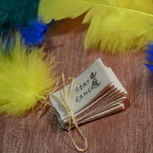 Textilní našívací etikety - 2,5cm béžová barva