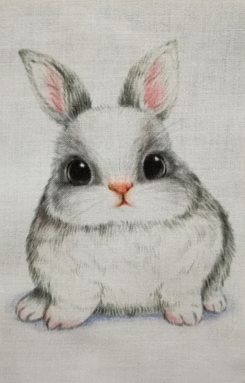 """Látkový panel 100% bavlna \""""Tlustý králíček\"""""""