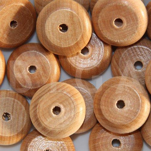 dřevěné korálky 25x10mm