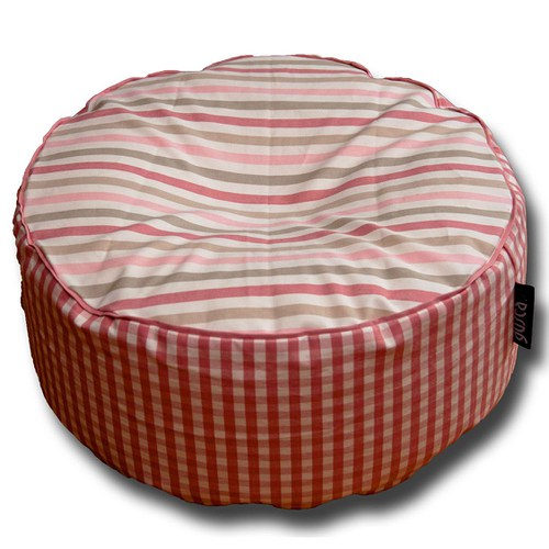 Malý sedací polštářek, růžový, bio náplň