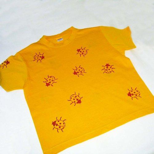 Žluté tričko s beruškami - dětské